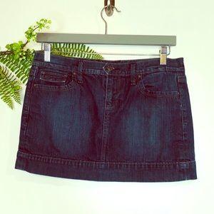 Old Navy Blue Jean Denim Mini Skirt